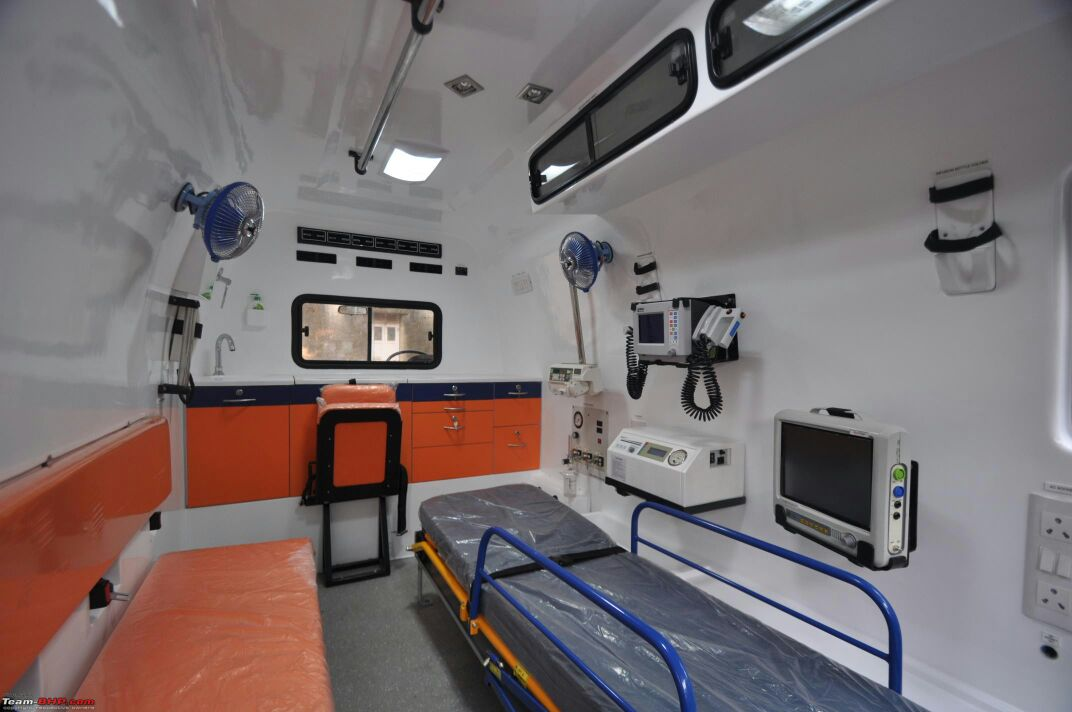 Air ambulance services with icu